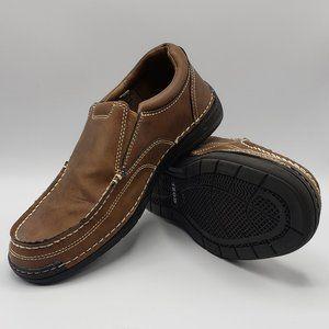 IZOD Men's Dark Tan Slip On Loafer Size 10
